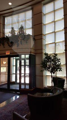 Wash Construction Lobby #windowtreatments #shades #windowshades #solarshades #windows #Chicago  #motorizedshades #construction #interiordesign #lobby