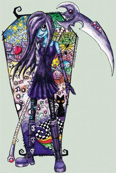 demiseman ♥ Horror Cartoon, Horror Art, Scary Drawings, Cute Drawings, Fallen Angel Art, Pumpkin Outfit, Emo Art, Emo Scene, Creepy Cute