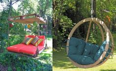 Amazing Rustic Swings more details here… Outdoor Log Swing more details here… Awesome Butterfly Back Swing more details here… How to make a Pallet Swing more details here…. Bespoke, carved wood swing seat and pergola Wooden Garden Swing, Wood Swing, Garden Swings, Indian Home Design, Fire Pit Swings, Diy Fire Pit, Indoor Swing, Outdoor Swings, Online Home Design