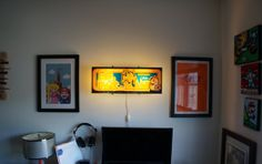 Vintage 1981 Ms.PacMan Arcade Marquee Wall Light by ArcadeLights, $145.00