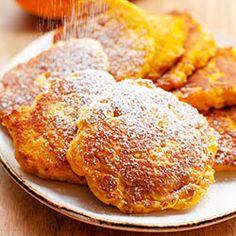 Placki z dyni (sin azucar y grasa, harina de avena) Pierogi, French Toast, Breakfast, Food, Fat, Morning Coffee, Essen, Meals, Yemek