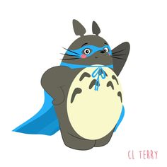 Day 88.  Totoro's super powers are extreme squishiness and being a good friend.