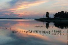 Купить Фотокартина авторская Озеро в Латвии - голубой, фотокартина авторская, Фотокартина природа, фотокартина для интерьера Celestial, Sunset, Outdoor, Outdoors, Sunsets, Outdoor Games, Outdoor Living
