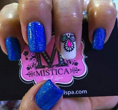 Uñas para noche Pretty Nail Designs, Nail Art Designs, Pretty Toes, Pretty Nails, Fancy Nails, Cute Nails, Lcn Nails, The Art Of Nails, Mandala Nails