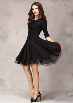 Black Cocktail Dress Sleeves - Colorful Dress Images of Archive