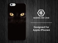 iPhone 6 Case black cat eyes iPhone 6 plus Case by buzzingbeecase