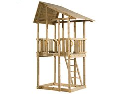 Blue Rabbit - Hanger Cubby Houses, Play Centre, Cubbies, Playground, Gazebo, Tower, Outdoor Structures, Wood, Blue