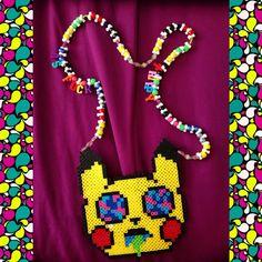 ⚡️Trippy As Fuck⚡️ #kandi #perlers #perlernecklace #kandikid #ilovekandi #plur #plurlife #pikachu #loveit #rad #trippy #instagood #instapic