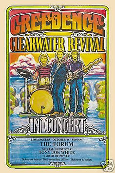 Creedence Clearwater Revival and guest Tony Joe White, Los Angeles, c 1970