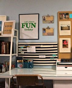 6 Office Organization Ideas - Dova Home Cool Furniture, Furniture Design, Office Organization Tips, Clear Bins, Container Shop, Shelving Design, Design Ideas, Design Inspiration, Home Office Desks