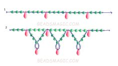 Free pattern for beautiful beaded necklace Tahoe.  U need:    pearl beads 3-4 mm    drop beads    seed beads  - See more at: http://beadsmagic.com/?p=3582#more-3582