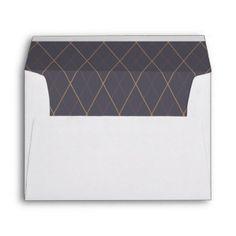 Monogram. Typography. Elegant Purple Art Deco. Envelope  $0.85  by WhitePaperBirch  - cyo customize personalize unique diy idea
