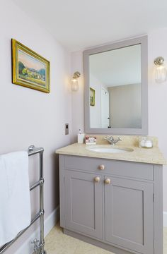 Shaker vanity unit with heated mirror above Vanity Units, Bathroom Furniture, Joinery, The Unit, Mirror, Home, House, Ad Home, Mirrors