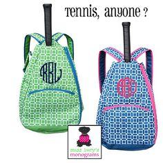 monogrammed tennis bag/ backpack!