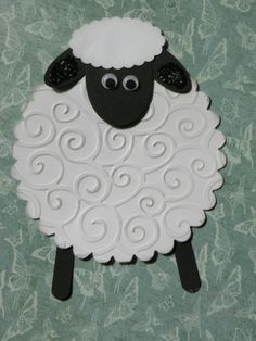 perfect card for knitters! Happy Resurrection Sunday, Sheep Cards, Hoppy Easter, Easter Card, Eid Cards, Punch Art Cards, Bible Crafts For Kids, Scrapbook Cards, Scrapbooking
