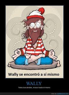 "Wally se encontró a sí mismo (el ""se"" reflexivo) (pretérito). Visit http://www.estudiafeliz.com for more fun materials for Spanish teachers and students!"