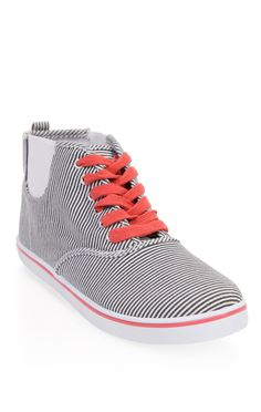 Deb Shops striped high top #sneaker