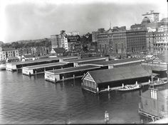View of the ferry wharves at Circular Quay, Sydney Dated: ca. 1 January 1950 Photo shared by the Maritime Services Board. www.records.nsw.gov.au.v@e