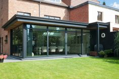 Home - All Seasons Veranda's Garden Room, House Design, Rooftop Terrace Design, House Furniture Design, House Exterior, Flat Roof Extension, Modern Glass House, My House, House Extension Design