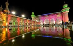 # Milad # Eid # Birthday # Prophet # Muhammad # Celebration # Rabi ul Awwal # Milad un Nabee # Maulood # Muslim Rabi Ul Awwal, Mason Work, Eid Milad Un Nabi, Mecca Masjid, Celebration Around The World, Grand Mosque, Tourist Places, Hyderabad, Taj Mahal