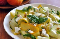 Squash Ribbon Salad: Such a nice alternative to the summer pasta salad.