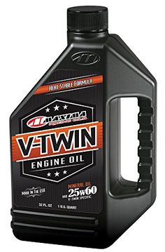 Maxima Racing Oils 3015901 25w60 VTwin Mineral Engine Oil  32 fl oz >>> Be sure to check out this awesome product. (This is an affiliate link) #CarOilChange