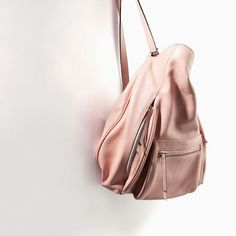 ZARA - COLLECTION AW14 - LEATHER BUCKET BAG WITH FRONT POCKET