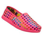 Little girls BOBS shoes by SKECHERS.  TOMS style for less.  I will be getting a pair for my daughter.
