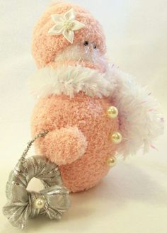 Sock Snowman, Make A Snowman, Snowmen, Sock Crafts, Diy Crafts, Christmas Time, Christmas Crafts, Snowman Decorations, Deco Mesh Wreaths