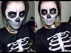 Halloween Skeleton Youtube Skeleton Makeup Tutorial. - YouTube