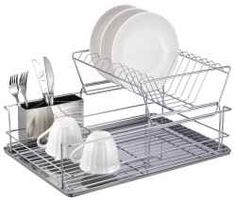 A stainless steel dish drainer is an essential kitchen storage that anyone will need. Stainless steel makes it perfect for a wet place like the...