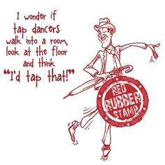 Tap Dancer Unmounted Red Rubber Stamp ~ $7.30 at makeitcrafty.com