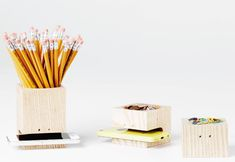 This Stationery Box Set Stores Writing Tools and One's Mobile Device #stationery trendhunter.com
