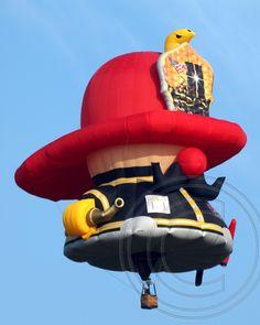 """Little Fireman"" Hot Air Balloon at the 2013 Hot Air Balloon Festival at Solberg Airport in Readington, NJ - photo by jag9889, via Flickr"