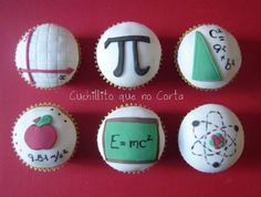 Math & Physics cupcakes... LOVE. I know I'm a nerd, but it comes with the territory of being a math and science teacher <3