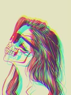 17 Ideas Trippy Art Psychedelic Weird Awesome For 2019 Arte Pop, Psychedelic Art, Psychedelic Makeup, Bild Girls, Street Art, Skull Art, Girl Skull, Skull Head, Art Plastique