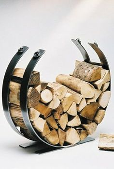Ingarden Log Basket. Modern Forged Steel Log Holder. Beautifully Hand Crafted In The Uk: Amazon.co.uk: DIY & Tools