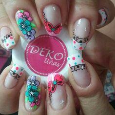 Fingernail Designs, Acrylic Nail Designs, Nail Art Designs, Acrylic Nails, Glow Nails, Diy Nails, Cute Nails, Pretty Nail Designs, Pretty Nail Art