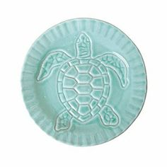 "Vietri Incanto Mare Aqua Turtle Canape Plate by VIETRI. $17.00. Dimensions: 6.5""D. Brand New - First Quality. Mix and match this Incanto Mare aqua turtle canape plate to add a splash of fun and color to any setting. A great gift for the sea lover! Handmade in Veneto of terra marrone. Dishwasher, microwave, oven and freezer safe."