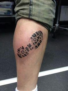Really like this idea. 1 Tattoo, Tattoo Quotes, Half Marathon Tattoo, Outdoor Tattoo, Marathon Tips, Birthday Tattoo, Skin Art, Tattoo Images, Tattoos For Guys
