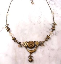 Steampunk necklace from Jewelry Designs by Twig