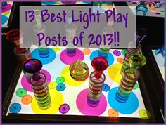lights, twin, lighttabl, light play, play post, collag, preschool light, activ, light table