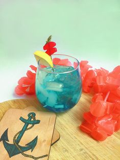 We're #DIY-ing an awesomely oceanic cocktail in honor of Shark Week!