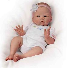 Ashton Drake Lifelike Baby 'Snuggle Bunny' Lifelike Poseable Baby Doll New