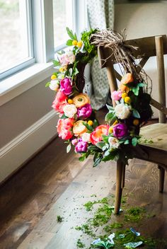 DIY Summer Floral Wreath – The Gray Cottage