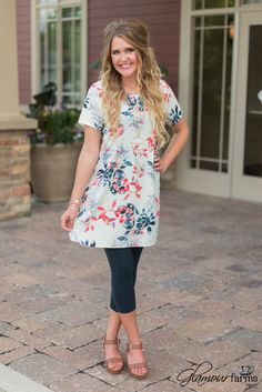 Arbor Grove Tunic/Dress - Navy/Ivory