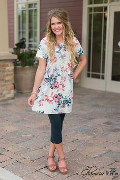 Arbor Grove Tunic/Dress - Navy/Ivory
