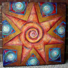 Latest Painting inspired by Mayan Oracle card deck - Nikki Shannon, Energy Painter