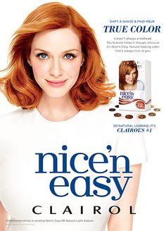 Christina Hendricks is Clairol's new Nice 'n Easy ambassador. I've always loved her hair color.