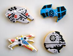 Star Wars Cookies- my cookies are TOYALLY going to look like this. (Note the sarcasm)